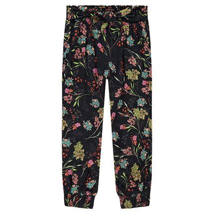 Άνετο παντελόνι με λουλουδάκια σε όλη την επιφάνεια