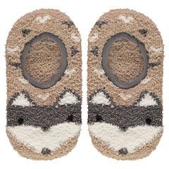 Κοντές μπουκλέ κάλτσες σαν παντοφλάκια με αντιολισθητικά βεντουζάκια σε σχήμα λύκου