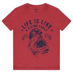 Κοντομάνικη μπλούζα από ζέρσεϊ με στάμπα αετό