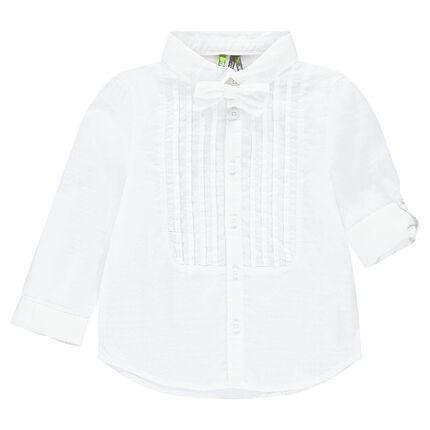 Μακρυμάνικο πουκάμισο με αφαιρούμενο παπιγιόν