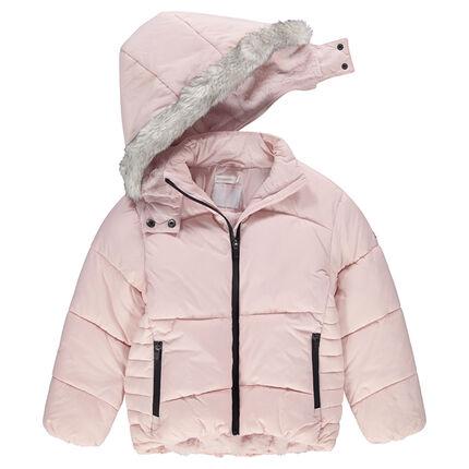 Παιδικά - Καπιτονέ μπουφάν με επένδυση από sherpa και τσέπες με φερμουάρ