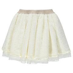 Επίσημη φούστα από δαντέλα με φόδρα από τούλι και γυαλιστερή μέση