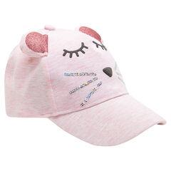 Καπέλο σε σχήμα ποντικιού από ζέρσεϊ με πούλιες και ανάγλυφα αυτάκια