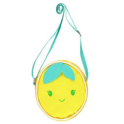 Διάφανη τσάντα ώμου σε σχήμα λεμονιού