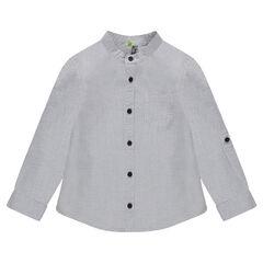 Βαμβακερό πουκάμισο με μάο γιακά