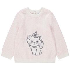 Pull en tricot effet léopard broderie Marie Aristochats Disney