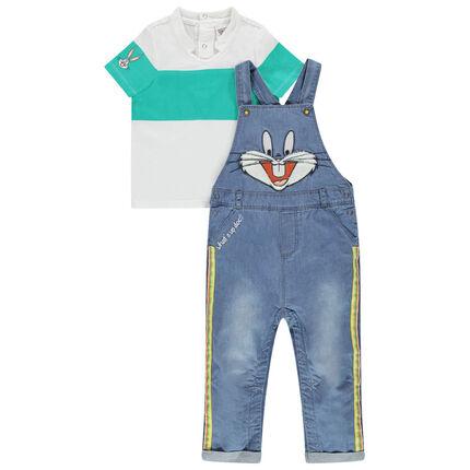 Σύνολο τζιν σαλοπέτα και πόλο με μοτίβο  Bugs Bunny της Looney Tunes