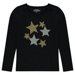 Παιδικά - Μακρυμάνικη μπλούζα με αστεράκια από «μαγικές» πούλιες