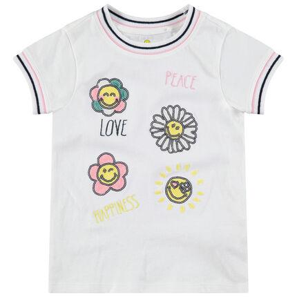 Κοντομάνικη μπλούζα με μοτίβα ©Smiley από «μαγικές» πούλιες