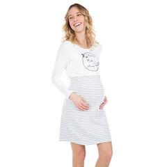 Νυχτικό εγκυμοσύνης 2 σε 1 με στάμπα το Μίκυ και τη Μίνι της ©Disney