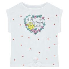 Κοντομάνικη ζέρσεϊ μπλούζα σε φαρδιά γραμμή με στάμπα την Μπελ της ©Disney