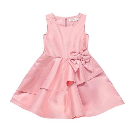 Κοντομάνικο φόρεμα για επίσημες περιστάσεις με φιόγκο και βολάν