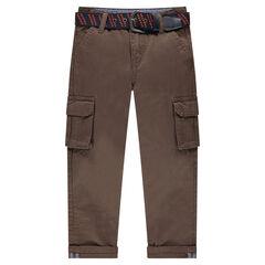 Ίσιο παντελόνι με τσέπες και αφαιρούμενη ζώνη