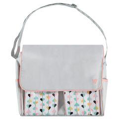Τσάντα-αλλαξιέρα με πολλές τσέπες, θήκη για το μπιμπερό και πανάκι αλλαξιέρας