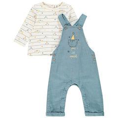 Σετ t-shirt με σχέδιο και σαλοπέτα για bebe αγόρι , Orchestra