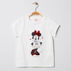 T-shirt κοντομάνικο βαμβακερό με σχέδιο Minnie με παγιέτες Disney , Orchestra