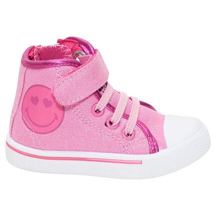 Αθλητικά μποτάκια ροζ με παγιέτες ©Smiley