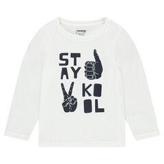 Μακρυμάνικη μπλούζα με διακοσμητική στάμπα