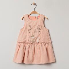 Φόρεμα αμάνικο  με τυπωμένα ζωάκια  και κεντήματα