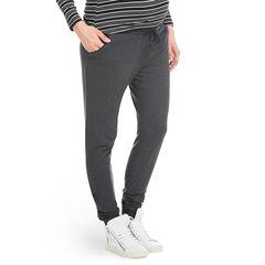 Pantalon de jogging de grossesse avec détails en simili cuir
