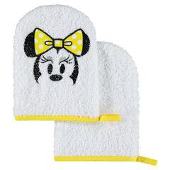 Σετ 2 πετσετέ γάντια μπάνιου με κεντημένο μοτίβο τη Μίνι της Disney