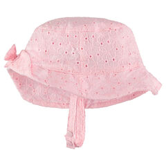 Καπέλο με κοφτό κέντημα