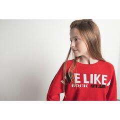 Παιδικά - Κοντομάνικο πλεκτό πουλοβερ απο ζακαρ με μήνυμα