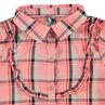 Μακρυμάνικο καρό πουκάμισο με ραφή και βολάν