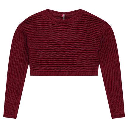Παιδικά - Κοντό πουλόβερ σε χοντρή πλέξη