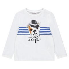 Μακρυμάνικη μπλούζα από ζέρσεϊ με διακοσμητική στάμπα