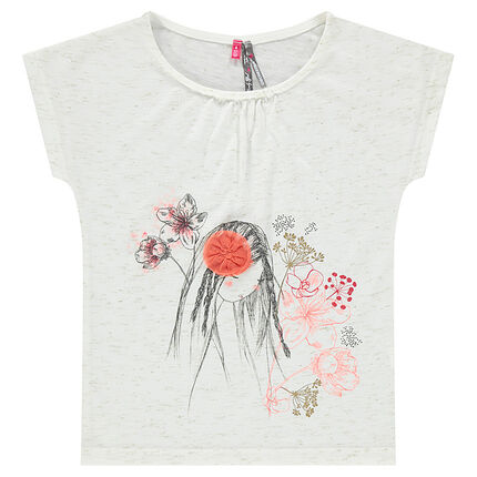 Κοντομάνικη μπλούζα με φαντεζί τύπωμα