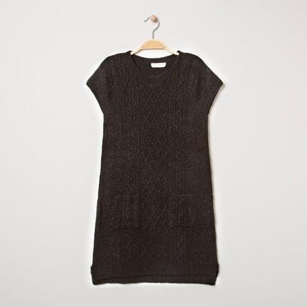 Παιδικά - Κοντομάνικο πλεκτό φόρεμα με τσέπες