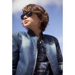 Παιδικά - Τζάκετ σε στιλ τζιν με φθαρμένη όψη και τσέπη με φερμουάρ