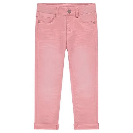 Μονόχρωμο παντελόνι από τουίλ με used όψη και μόνιμες τσακίσεις