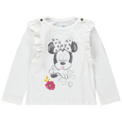 Μακρυμάνικη μπλούζα με βολάν και στάμπα Μίνι της Disney