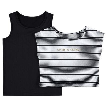 Παιδικά - Αμάνικο 2 σε 1 με αφαιρούμενο κοντό μπλουζάκι