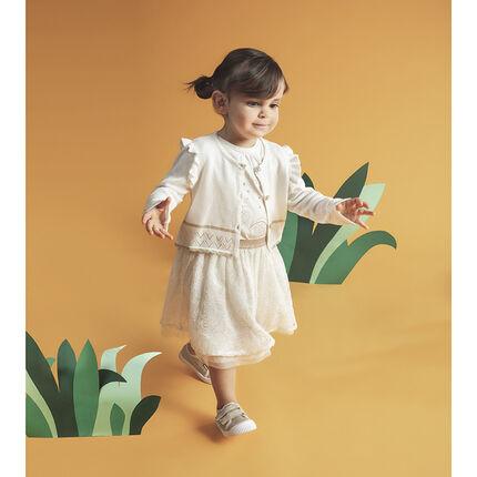 Κοντή φούστα από τούλι με κεντήματα σε στιλ δαντέλας