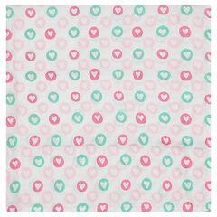 Πάνα 100 x 100 εκ. από ίνες μπαμπού, με εμπριμέ μοτίβο καρδιές