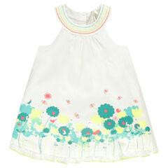 Φόρεμα αμάνικο για νεογέννητα με στάμπες λουλούδια