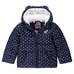 Καπιτονέ μπουφάν με κουκούλα, επένδυση sherpa και στάμπα Μίνι της Disney