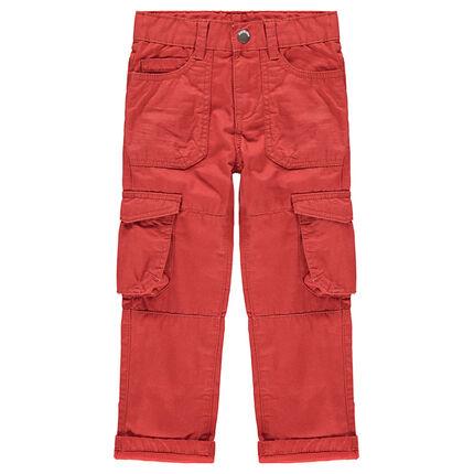 Κόκκινο υφασμάτινο παντελόνι με τσέπες στα μπατζάκια - Orchestra GR 14b1cebdd97