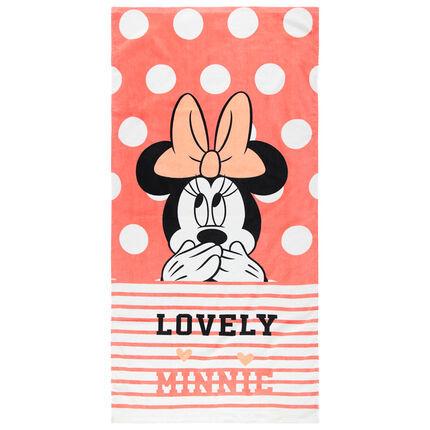 Πετσέτα θαλάσσης με πουά και μοτίβο Minnie της Disney