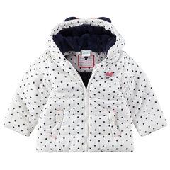 Καπιτονέ μπουφάν με πουά, επένδυση sherpa και ανάγλυφα αυτάκια Μίνι της ©Disney