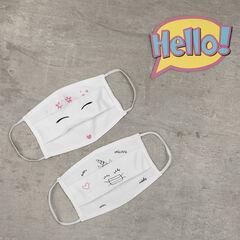 Σετ από 2 παιδικές υφασμάτινες μάσκες AFNOR με σχέδιο μονόκερος