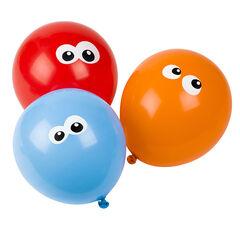 Σετ με 10 μπαλόνια γενεθλίων με σχέδιο με μάτια
