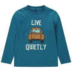 Μακρυμάνικη μπλούζα από ζέρσεϊ με φαντεζί τύπωμα αυτοκίνητο