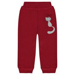 Παντελόνι φόρμας από φανέλα με επένδυση από sherpa