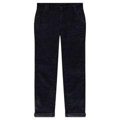 Παιδικά - Slim παντελόνι από βελούδο