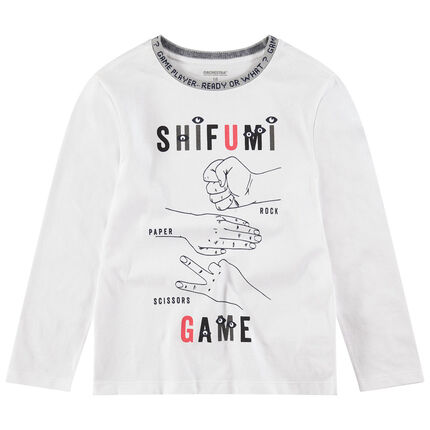 Παιδικά - Μακρυμάνικη ζέρσεϊ μπλούζα με τυπωμένα σύμβολα