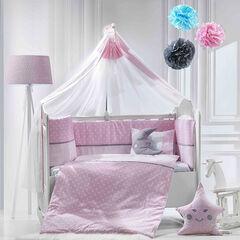 Σετ προίκας 9τμχ 70*140 carousel ροζ  , ABO